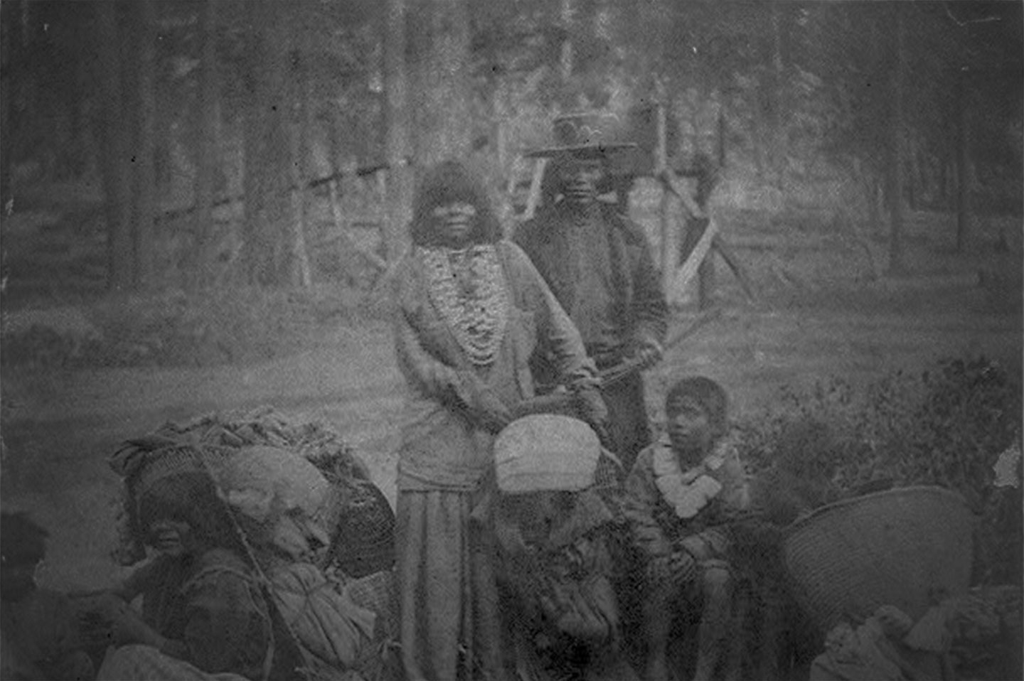 Lake Tahoe's Washoe Indians, ca. 1866. Unknown source. Please contact me with copyright info or to request removal.
